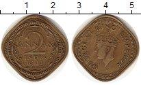 Изображение Монеты Индия 2 анны 1944 Латунь XF Георг VI