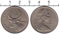 Изображение Монеты Гамбия 2 шиллинга 1966 Медно-никель XF