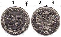 Изображение Монеты Италия 25 сентесимо 1903 Никель UNC Витторио Эмануил III