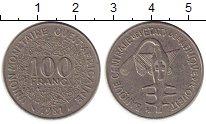 Изображение Монеты Западная Африка 100 франков 1981 Медно-никель XF Золотая гиря народа