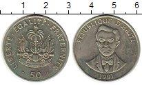 Изображение Монеты Гаити 50 сантим 1991 Медно-никель XF+