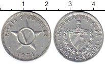 Изображение Монеты Куба 5 сентаво 1971 Алюминий XF