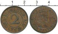 Изображение Монеты Маврикий 2 цента 1971 Бронза VF Елизавета II