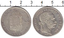 Изображение Монеты Венгрия 1 форинт 1878 Серебро XF Франц  Иосиф I