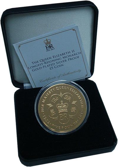 Изображение Подарочные монеты Тристан-да-Кунья 5 фунтов 2015 Серебро Proof