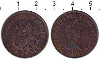 Изображение Монеты Остров Джерси 2 пенса 1990 Бронза XF