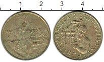 Изображение Монеты Сан-Марино 200 лир 1994 Латунь XF ФАО