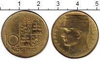 Изображение Монеты Чехословакия 10 крон 1993 Латунь XF