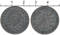 Изображение Монеты Швейцария Базель 1 батзен 1826 Серебро XF-