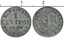 Изображение Монеты Швейцария Женева 1 сантим 1839 Серебро XF