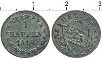 Изображение Монеты Германия Берн 1 рапп 1818 Серебро UNC-