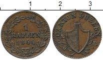 Изображение Монеты Швейцария Люцерн 1 рапп 1844 Медь XF+