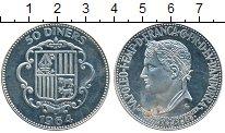 Изображение Монеты Андорра 50 динерс 1964 Серебро UNC-