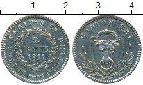 Изображение Монеты Европа Швейцария 2 батзена 1811 Серебро UNC-