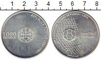 Изображение Монеты Португалия 1000 эскудо 2001 Серебро UNC- Чемпионат  Европы  п