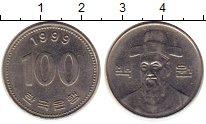 Изображение Монеты Южная Корея 100 вон 1999 Медно-никель UNC- Адмирал Ли Сунсин