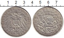 Изображение Монеты Германия Бремен 5 марок 1906 Серебро VF+