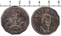Изображение Монеты Свазиленд 50 центов 1998 Медно-никель XF