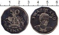 Изображение Монеты Свазиленд 50 центов 1998 Медно-никель UNC-