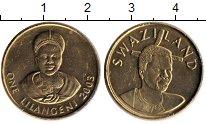 Изображение Монеты Свазиленд 1 лилангени 2003 Латунь UNC- Мсвати III