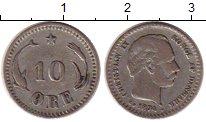 Изображение Монеты Дания 10 эре 1874 Серебро VF Христиан IX