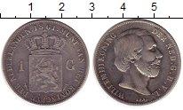Изображение Монеты Нидерланды 1 гульден 1861 Серебро XF-