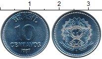 Изображение Монеты Бразилия 10 сентаво 1987 Медно-никель UNC-