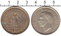 Изображение Монеты Новая Зеландия 1/2 кроны 1940 Серебро XF Георг VI