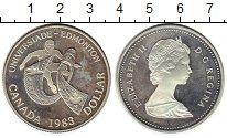 Изображение Монеты Канада 1 доллар 1983 Серебро UNC- Универсиада в Эдмонт