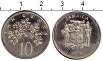 Изображение Монеты Ямайка 10 центов 1975 Медно-никель Proof-