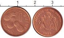 Изображение Монеты Африка Гамбия 1 бутут 1998 Бронза UNC-