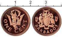 Изображение Монеты Барбадос 1 цент 1974 Бронза Proof-