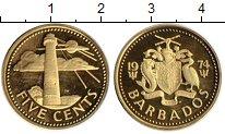 Изображение Монеты Барбадос 5 центов 1974 Латунь Proof-