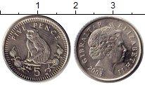 Изображение Мелочь Гибралтар 5 пенсов 2003 Медно-никель UNC