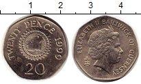 Изображение Монеты Гернси 20 пенсов 1999 Медно-никель UNC- Елизавета II