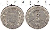 Изображение Монеты Швейцария 5 франков 1931 Серебро XF