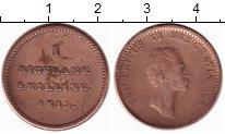 Изображение Монеты Дания 1 ригсбанкскиллинг 1813 Медь XF