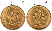 Изображение Монеты США 5 долларов 1907 Золото UNC-