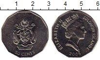 Изображение Монеты Соломоновы острова 50 центов 2005 Медно-никель UNC-