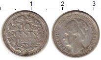Изображение Монеты Нидерланды 10 центов 1937 Серебро VF