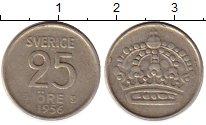 Изображение Монеты Швеция 25 эре 1956 Серебро VF Густав VI Адольф