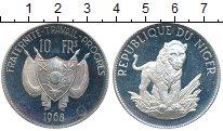 Изображение Монеты Африка Нигер 10 франков 1968 Серебро Proof-