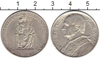 Изображение Монеты Ватикан 10 лир 1935 Серебро VF