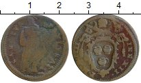 Изображение Монеты Европа Ватикан 1/2 байокко 0 Бронза VF