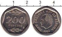 Изображение Монеты Испания 200 песет 1987 Медно-никель UNC