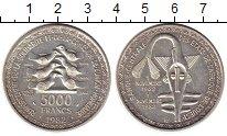 Изображение Монеты Западная Африка 5000 франков 1982 Серебро UNC- 20 лет  объединённой