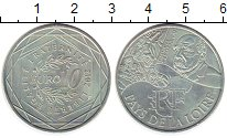 Изображение Монеты Франция 10 евро 2012 Серебро UNC-