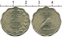 Изображение Дешевые монеты Южная Америка Парагвай 25 сентим 1953 Латунь XF