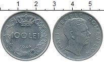 Изображение Дешевые монеты Румыния 100 лей 1944 Медно-никель XF