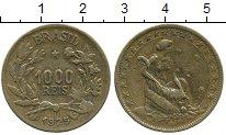 Изображение Дешевые монеты Бразилия 1000 рейс 1925 Латунь XF-